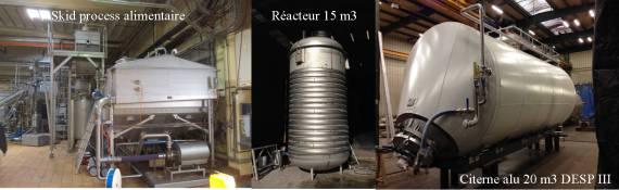 citerne aluminium  Skid process alimentaire réacteur